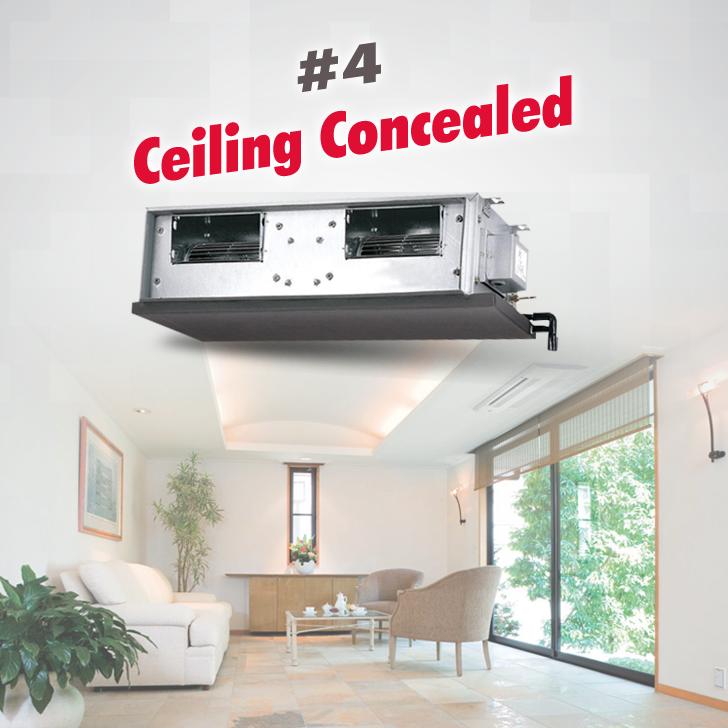 4 Ceiling Concealed Penyaman Udara