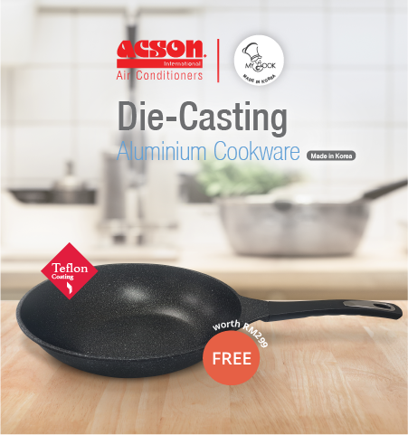 Complimentary Gift | MyCook Die Casting Aluminium Cookware
